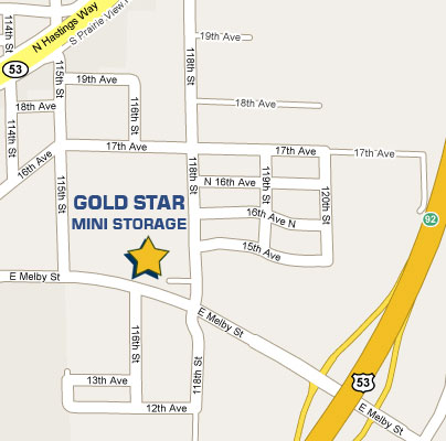 Gold Star Mini Storage - location