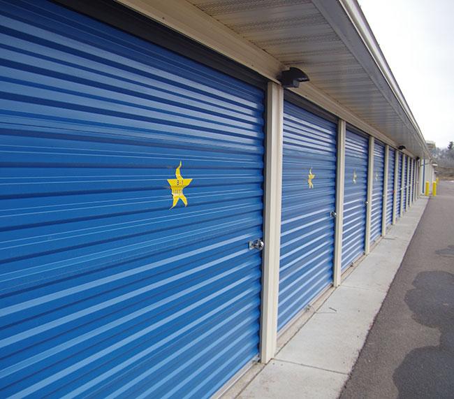 Gold Star Mini Storage - row of sheds