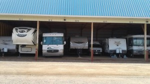 New Covered Storage building to protect your Motor Home, Boat or Trailer