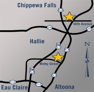 Gold Star Mini Storage - Eau Claire, Altoona, Chippewa Falls - locations